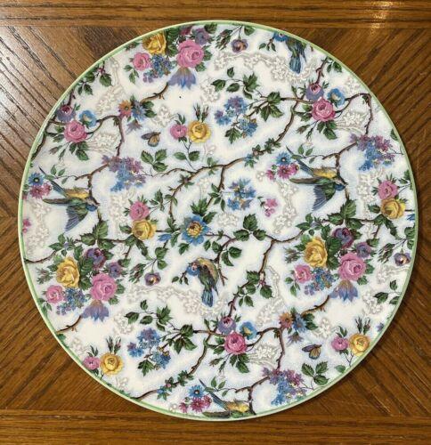 "Royal Tudor Ware Barker Bros LORNA DOONE Cake Plate Chintz 11 1/8"" England"