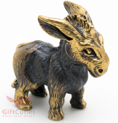 Brass Figurine of stubborn donkey IronWork