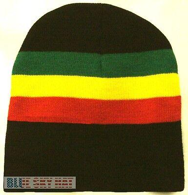 Jamaica Ski (NEW RASTA JAMAICA JAMAICAN REGGAE FLAG COLOR BEANIE SKI KNIT WINTER WARM CAP)