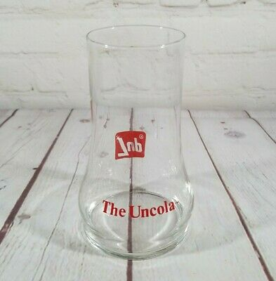 7-Up The Uncola Glass 1970's Upside Down Glass Vintage Seven Up Advertising