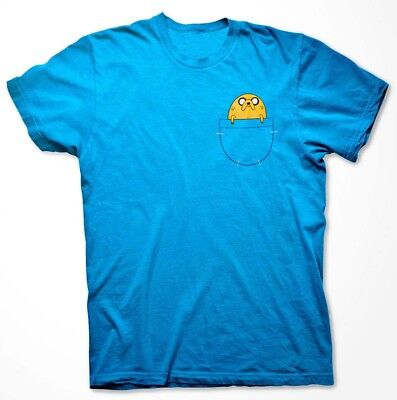 Jake in Pocket T-shirt Adventure Time Finn Jakes Halloween Costume Shirts (Finn Jake Costume)