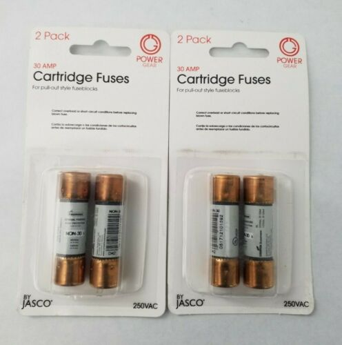 **LOT OF 2** POWER GEAR 30-AMP CARTRIDGE FUSES, 2-PACK 250VAC BY JASCO