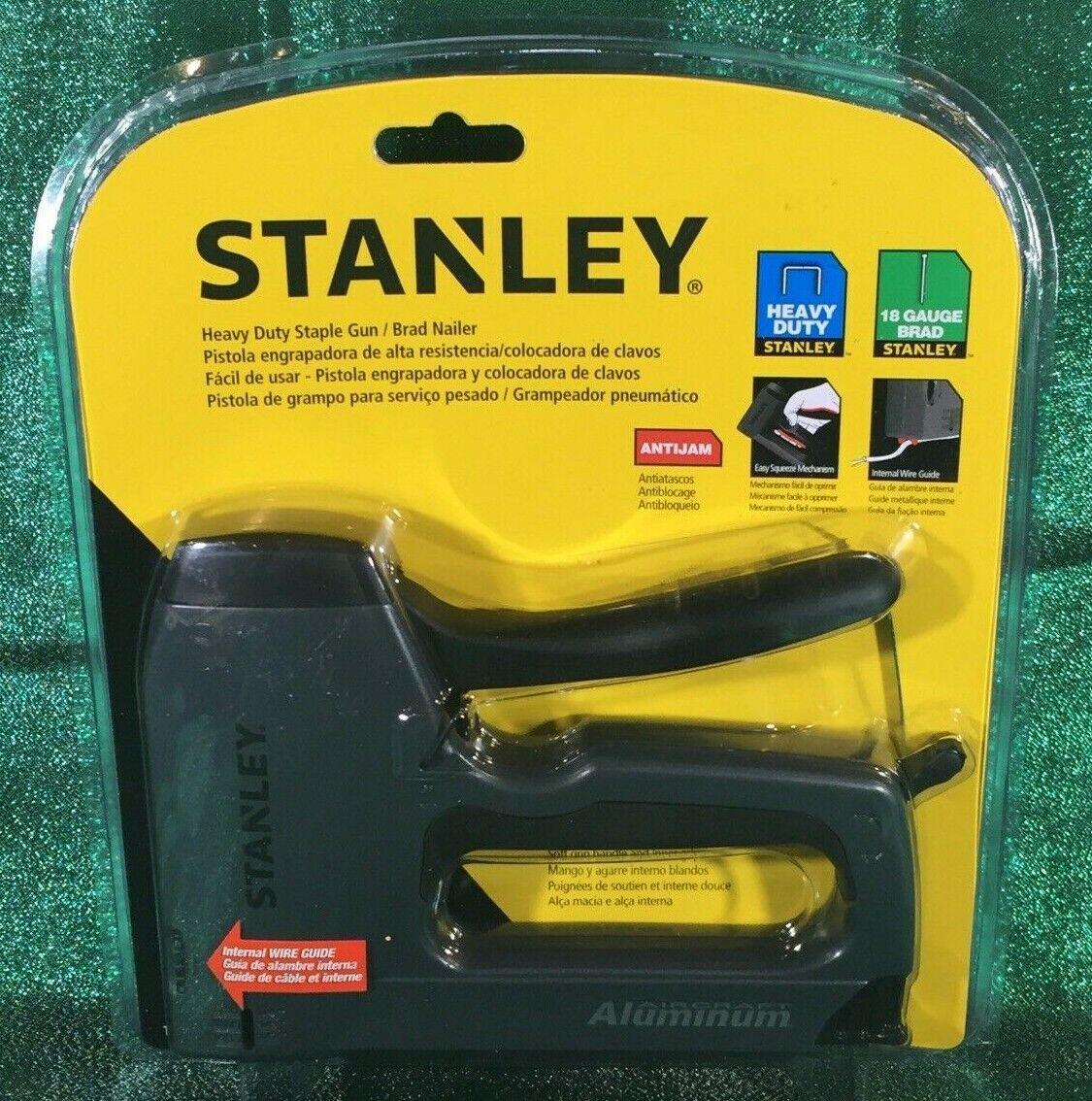 STANLEY TR250 Heavy-Duty Aluminum Staple Gun / Brad Nailer