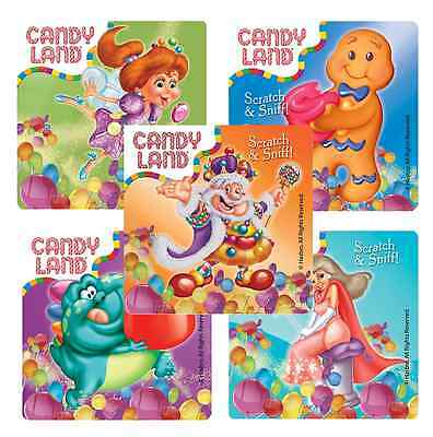 Candy Land Party (20 Candy Land Gumdrop Scented Stickers, 2.5
