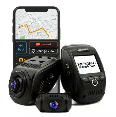 Rexing V1p Pro Dual 1080p Full HD Front and Rear 170 Degree Wide Angle Wi-fi Car