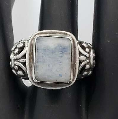 Bali Design Sterling Silver Moonstone Ring Size 8  NA-MSR15 Sterling Silver Bali Design