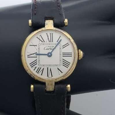 Vintage Cartier Must De Vermeil Quartz 925 Watch 24 mm WB4-CVW9