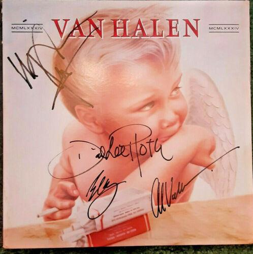 """VAN HALEN BAND SIGNED """"1984"""" ALBUM!!!"""