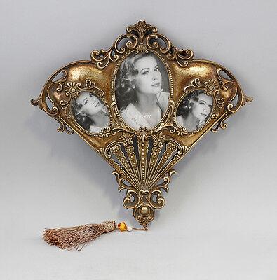 Bilder-Rahmen goldfarben ornamental Historismus Fächerform NEU 9977261
