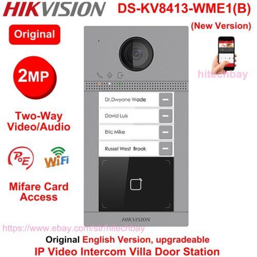Hikvision DS-KV8413-WME1(B) Door station Doorbell 4-Button IP Video Intercom PoE