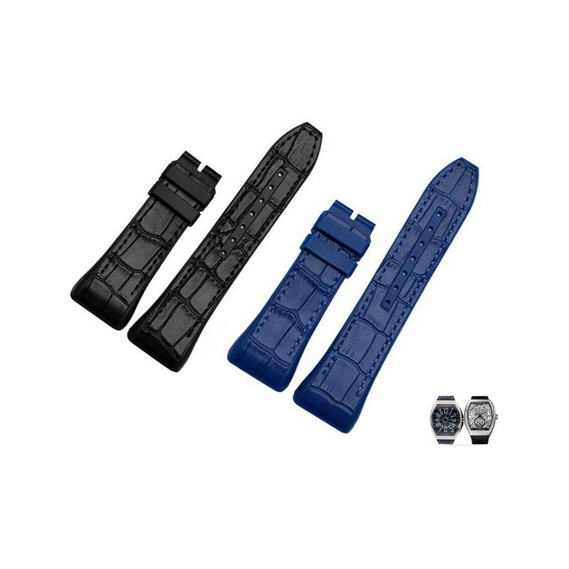 New Rubber Replacement Watch Band Strap For  Franck Muller V