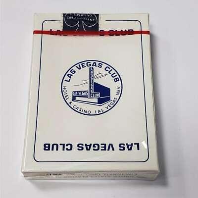 1 Deck Vintage Las Vegas Club Hotel Casino Playing Cards New In Box WB8-VLVCB04