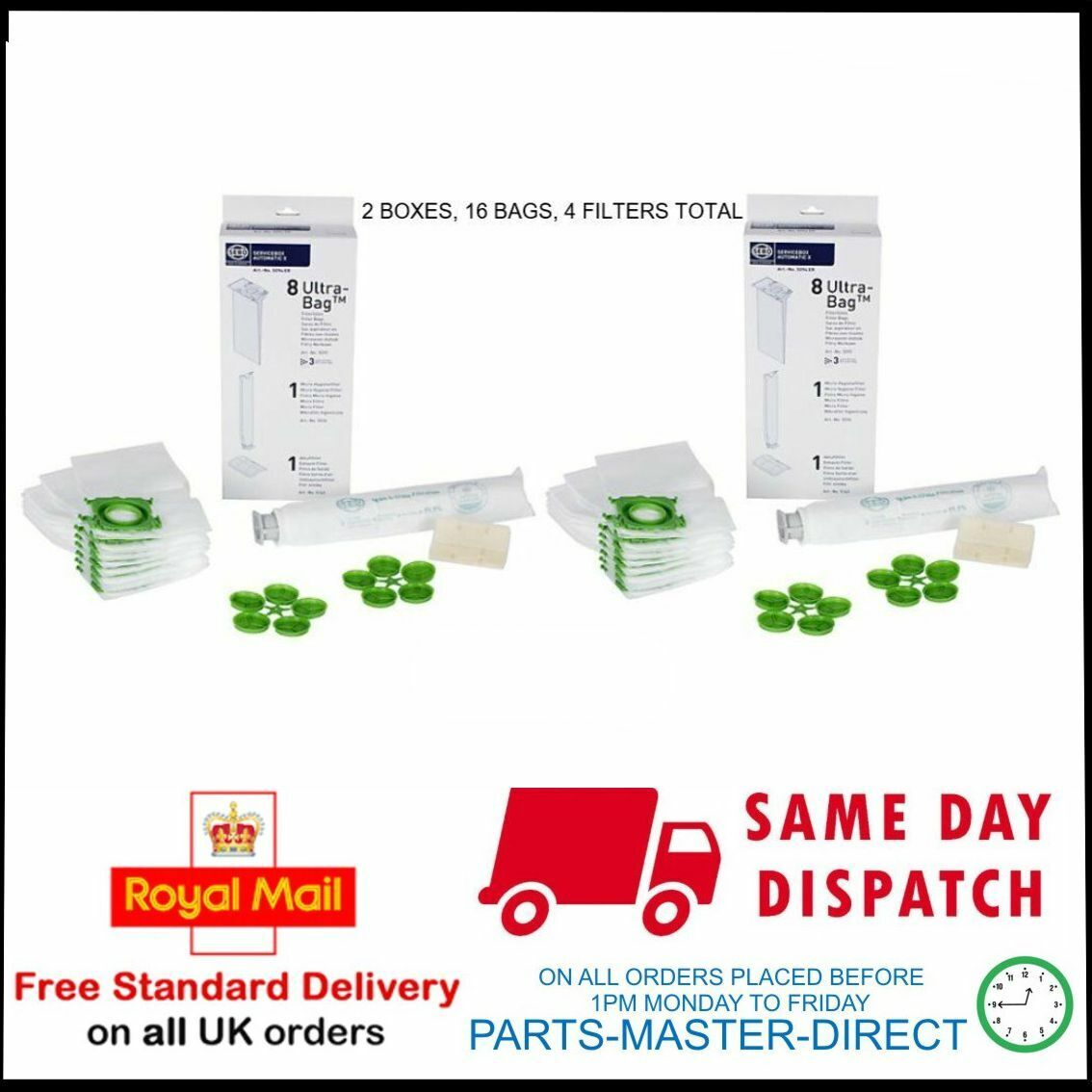 SEBO SERVICE PACK 10 BAGS 2 FILTERS 5094ER X1 X3 X4 X5