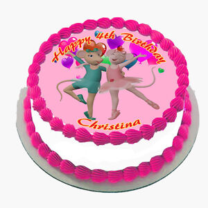 angelina ballerina real edible icing cake topper party