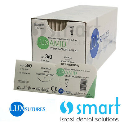 Dental Nonabsorbable Surgical Suture 30 Nylon Monofilament Luxamid Polyamid Ce