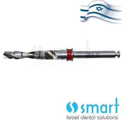 Dental Implant Step Drill External Irrigation 3.0 Mm Mis C1 V3 Compatible Red