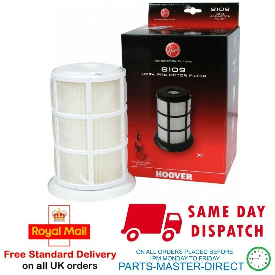 2 X Compatible Hoover Spirit SP2101 Aspirateur S109 Filtre HEPA