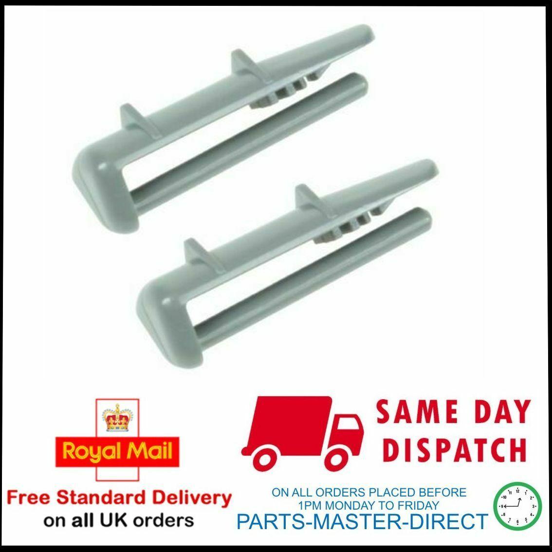 BEKO DISHWASHER UPPER BASKET REAR RAIL CLIPS /& CAP STOPS 2 PACK