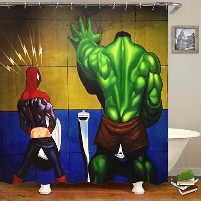 Superhero Hulk in the Toilet Shower Curtain Hone Bathroom Decrative 60 * 72 - Superhero Shower Curtain