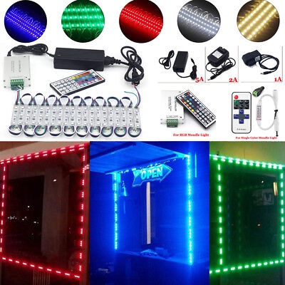 Us 10-100ft 3 Led 5050 Smd Module Store Front Window Sign String Lamp Light Kits