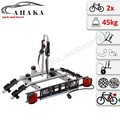 Portabicicletas de Enganche Para 2 Bicicletas Transportín Trasero AHK la
