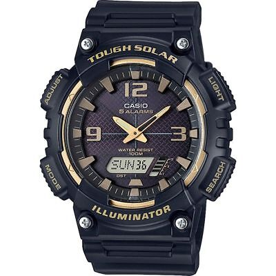 Casio AQS810W-1A3V, Digital/Analog Combo, Solar Powered, 5 Alarms, Resin Band