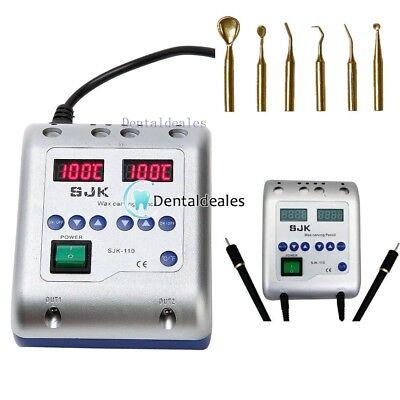 SJK Cuchillos de Cera Eléctrica con 6 Puntas laboratorio dental SJK-110