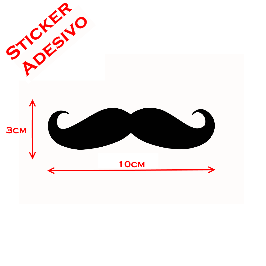 Sticker Adesivo Decal Baffo Baffi Mustache Mania Vintage Tuning Auto Moto Vinil