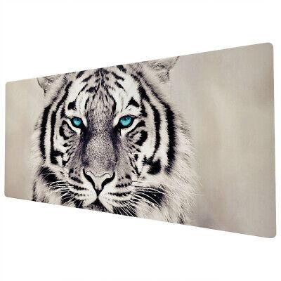 90x40cm Extra Large Xxl Mouse Mat Pad Full Desk White Tiger Black Blue