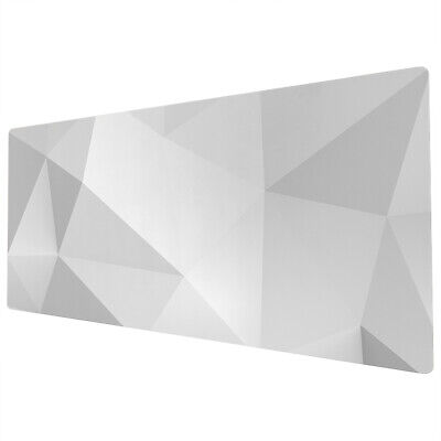 90x40cm Extra Large Xxl Mouse Mat Pad Full Desk White Grey Geometric Uk