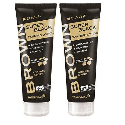 2x Solariumkosmetik Tannymaxx Brown Super Black Tanning ohne Selbstbräuner Neu