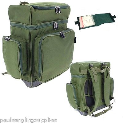 XPR Multi Compartment Rucksack Carp Coarse Fishing Tackle Bag & Rig Wallet