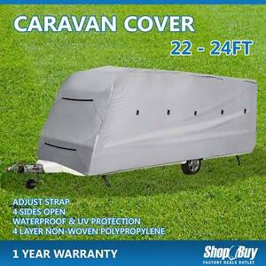 Free Delivery: 4 Layers Caravan Campervan Cover 22-24FT 4 Sides Moorebank Liverpool Area Preview
