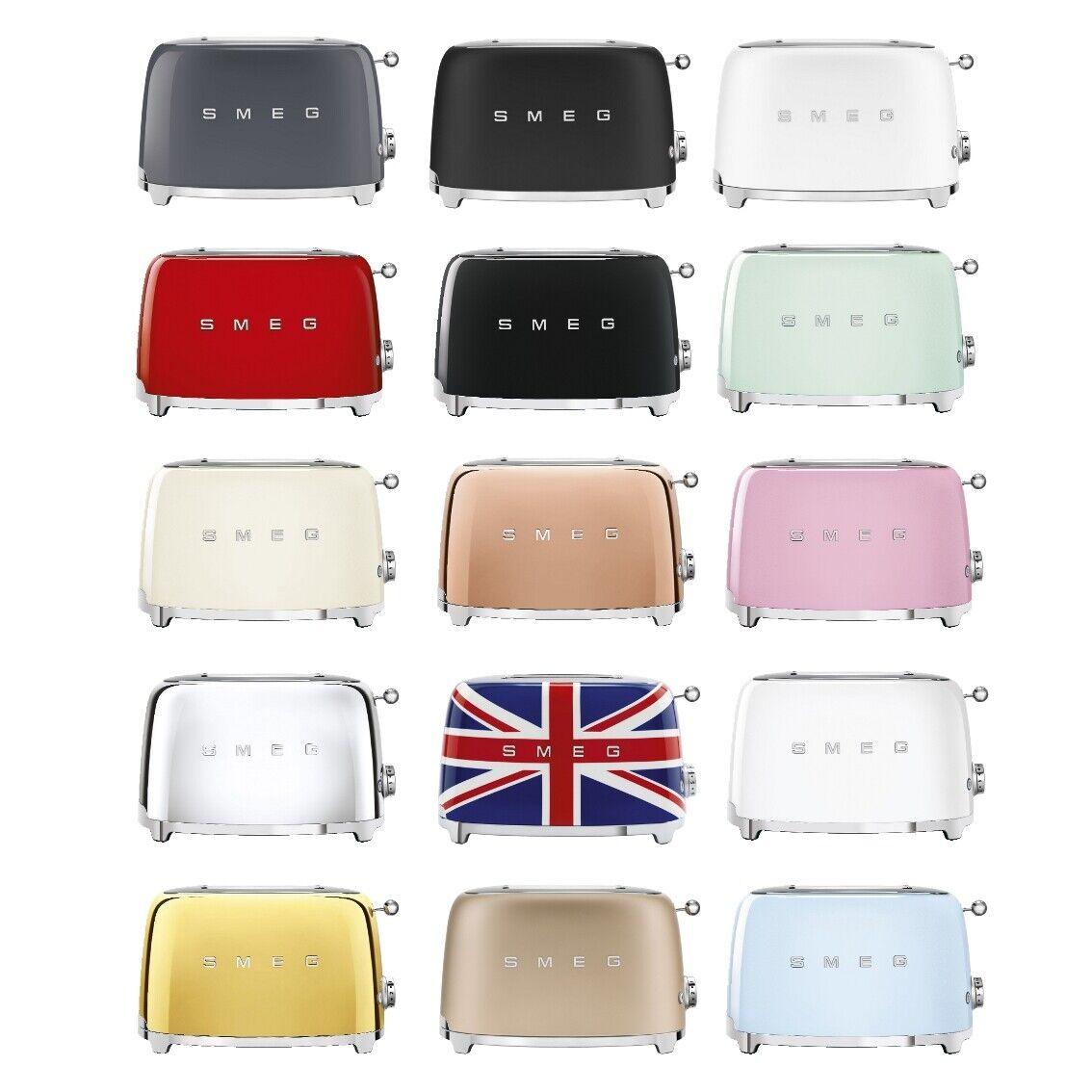 SMEG TSF01 Toaster Retro Design 50s 950W 6 Stufen Automatikprogramm alle Farben