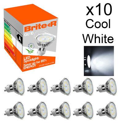 Pack of 10 5W LED GU10 Spotlight Light Bulbs Lamp Cool White Daylight 6500K A