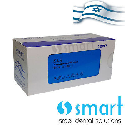 Dental Nonabsorbable Surgical Suture 30 Silk Braided Natural Smart Smart