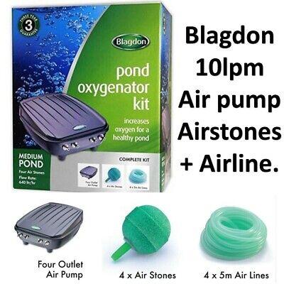 Blagdon Medium Pond Oxygenator Compressed Air Pump Koi Hydroponics 640lph 10lpm