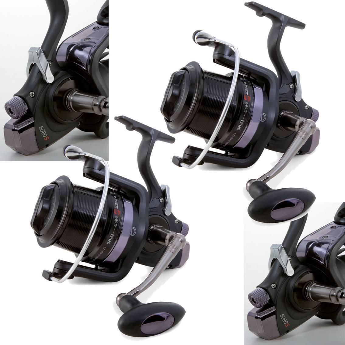 1 x Global Runner 6+1BB Big Pit Large Carp Fishing Reel B-Drag Special System