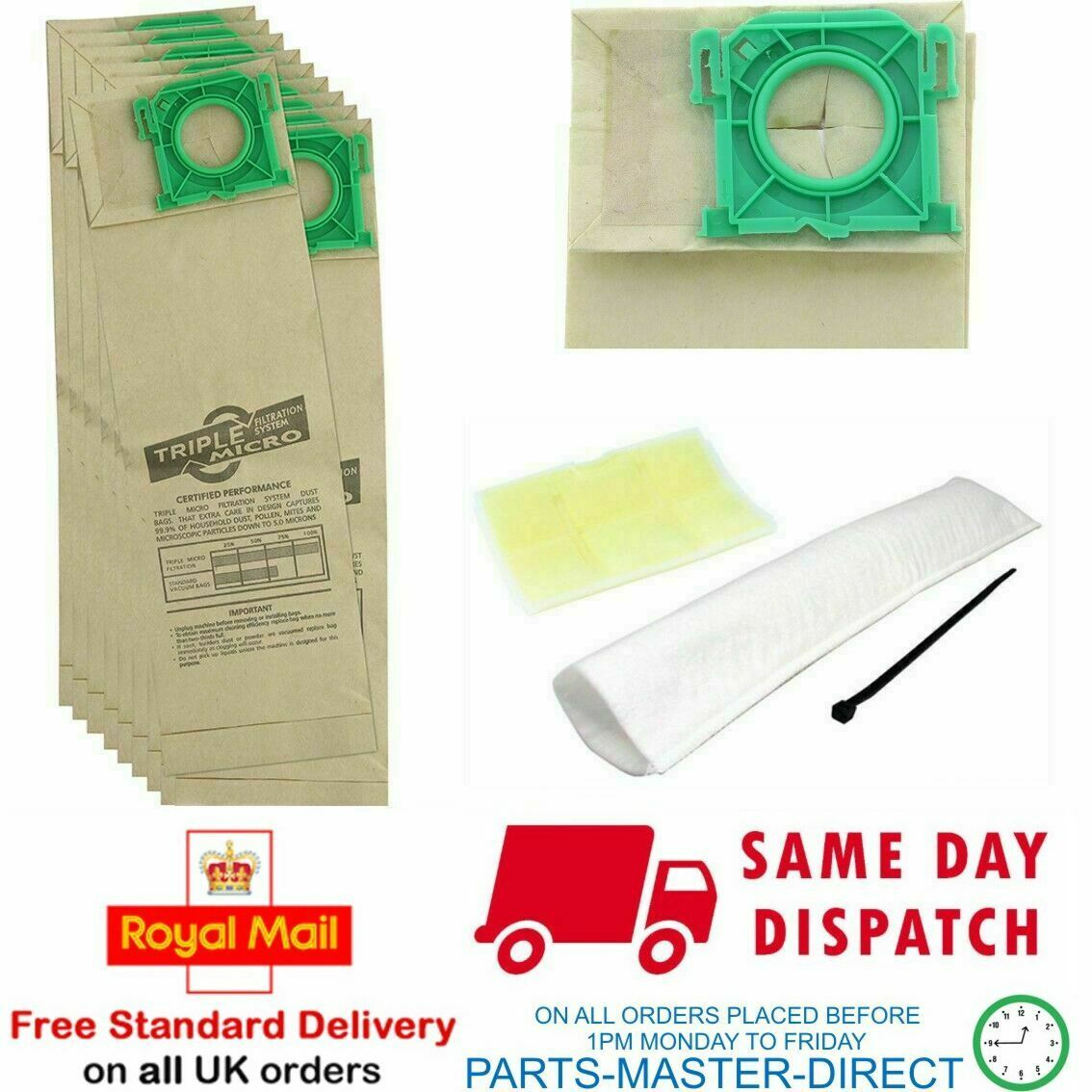 Service Kit For Sebo Vacuum Cleaner 20 Dust hoover Bags Filters x1 x4 extra x5