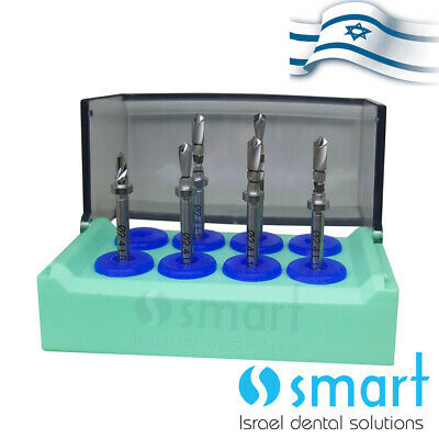 Dental Implant 6 Pcs Surgical External Step Pilot Drill Built In Stopper Set Box