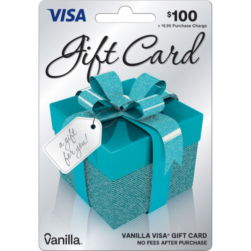 $100 GIFT CARD. ACTIVATED. FREE SHIPPING! No Fees. SEE DESCRIPTION.