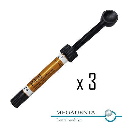 Lot X 3 Dental Composite P-fill Posterior Filling Megadenta Germany 4.5 Gr