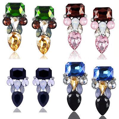 Joker Rhinestone - Simple Women Rhinestone Water Drop Joker Style Ear Stud Earring Fashion Jewelry