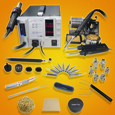 Aoyue 738h 5 In 1 Digital Soldering Iron Hot Air Station Complete Kit- 110 Vol