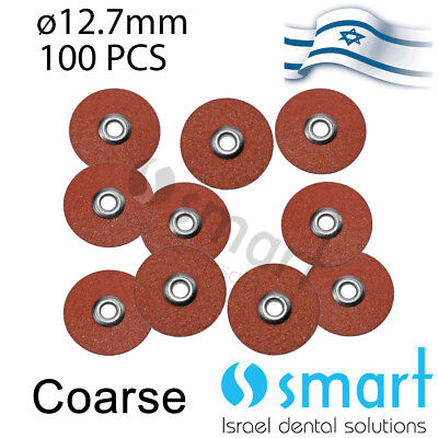 Dental Flex Composite Finishing Polishing Disc Soft Type Coarse 12.7 Mm 100 Pcs