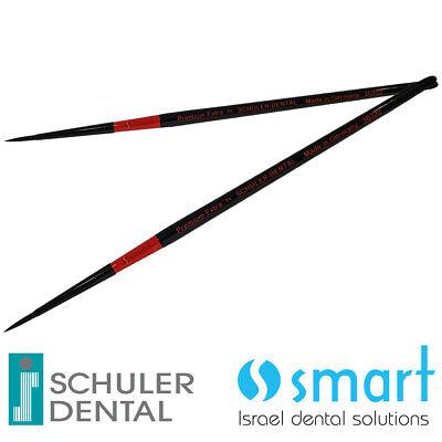 Lot X 2 Schuler Dental Lab Ceramic Brush Premium Synthetic Hair Black Germany 2