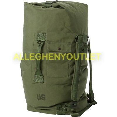 US Army Military Duffle Bag Sea Bag OD Nylon Top Load 2 Strap EXC