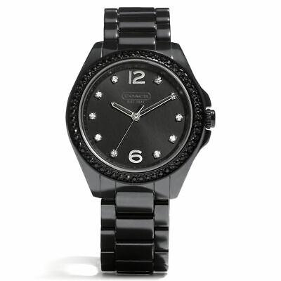 COACH 14501808 TRISTEN BLACK CERAMIC GLITZ BEZEL & DIAL WOMEN'S WATCH Analog Glitz Black Dial