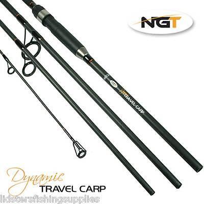 Dynamic Travel Carp Fishing 11ft 3.3M 4pc 2.75lb Carbon Rod NGT Quality Tackle