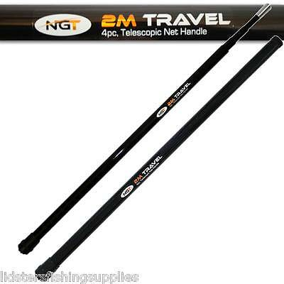2M Telescopic Travel Coarse Fishing Landing Net Handle 4 PC NGT Fishing Tackle